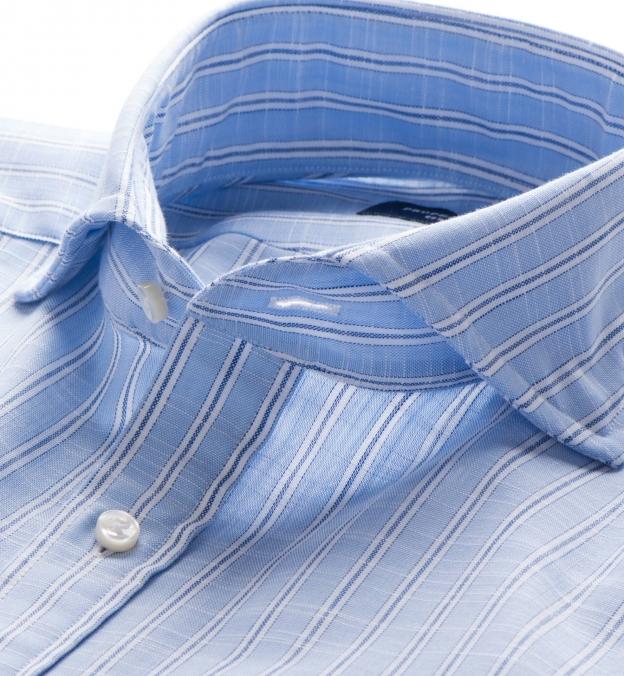 Canclini Blue Slub Stripe
