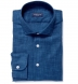 Washed Japanese Blue Slub Weave Shirt Thumbnail 1