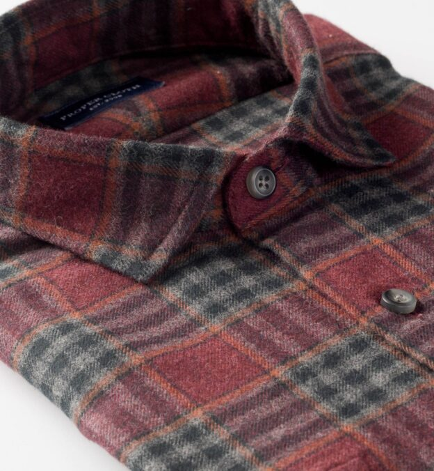 Canclini Red and Grey Plaid Beacon Flannel