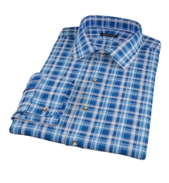 Blue and White Madras Custom Dress Shirt