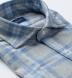 Canclini Light Grey and Blue Plaid Beacon Flannel Shirt Thumbnail 2