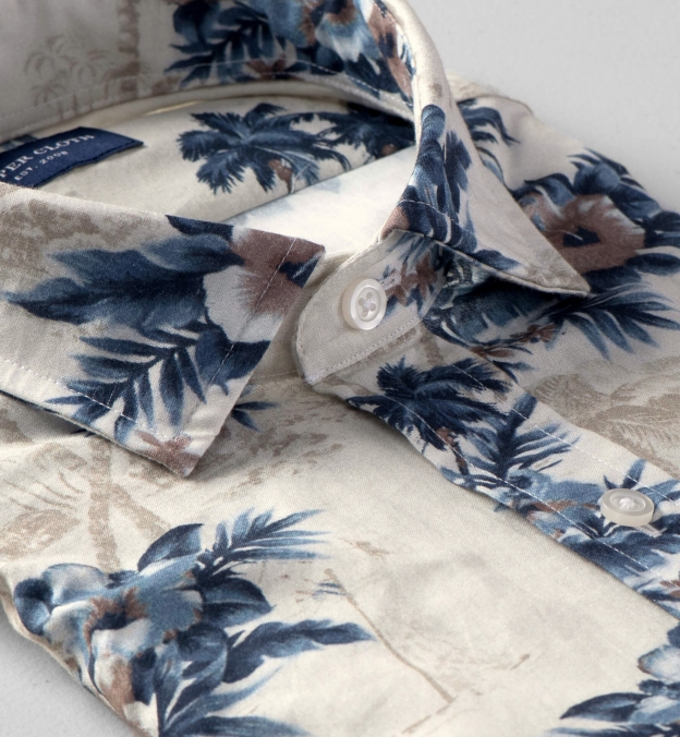 Albiate Faded Beige Aloha Shirt