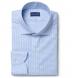 Thomas Mason Non-Iron Blue Gingham Shirt Thumbnail 1