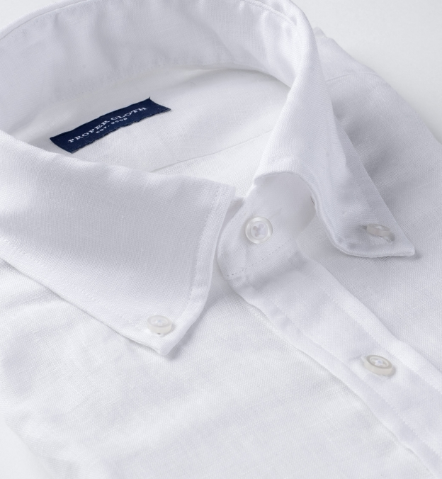 Thomas Mason Goldline White Linen