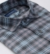 Satoyama Light Blue and Faded Rose Plaid Flannel Shirt Thumbnail 2