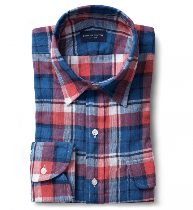 Japanese Red and Blue Plaid
