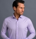 Mayfair Wrinkle-Resistant Lavender Houndstooth Shirt Thumbnail 3