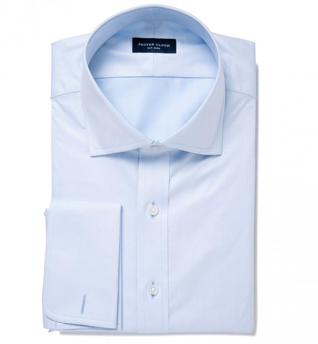 Mercer Light Blue Twill Fitted Shirt