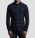 Canclini Navy and Grey Plaid Beacon Flannel Shirt Thumbnail 3