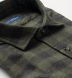 Stowe Fatigue and Charcoal Melange Gingham Flannel Shirt Thumbnail 2