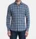 Satoyama Light Blue and Slate Plaid Flannel Shirt Thumbnail 3