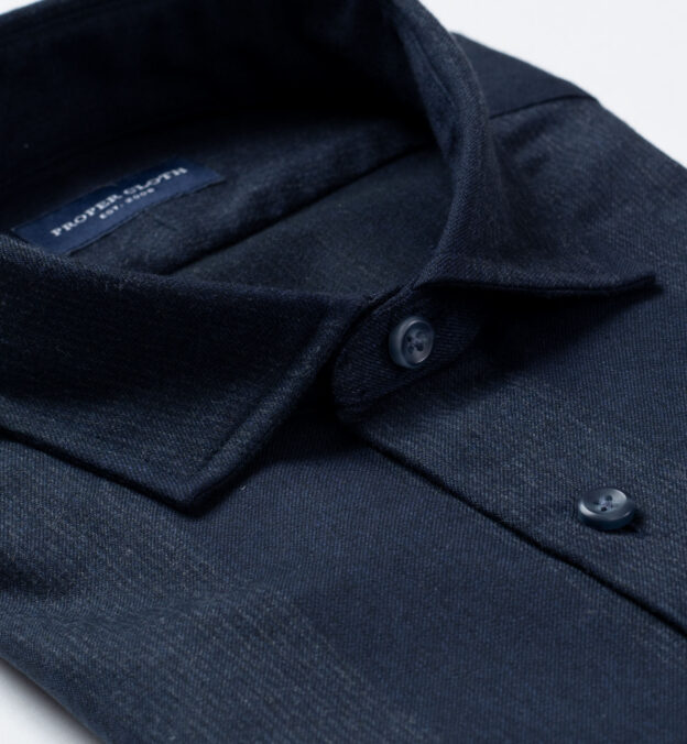 Canclini Navy and Grey Wide Stripe Beacon Flannel