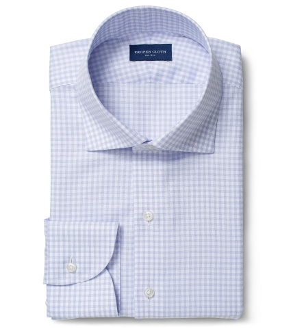Non-Iron Supima Lavender End-on-End Gingham