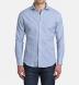 Thomas Mason Washed Light Blue Stripe Cotton Linen Oxford Shirt Thumbnail 4