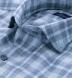 Bleecker Light Blue and Grey Melange Large Plaid Shirt Thumbnail 2