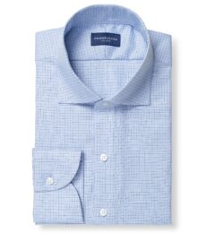 Mayfair Wrinkle-Resistant Light Blue Small Check Image