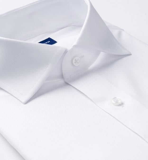 Hudson White Wrinkle-Resistant Twill