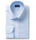 Beekman 120s Light Blue Multi Grid Shirt Thumbnail 1