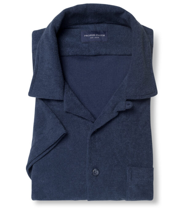 Faded Navy Terry Cloth Knit