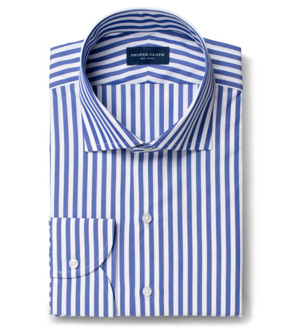 DJA Sea Island Royal Blue Bengal Stripe