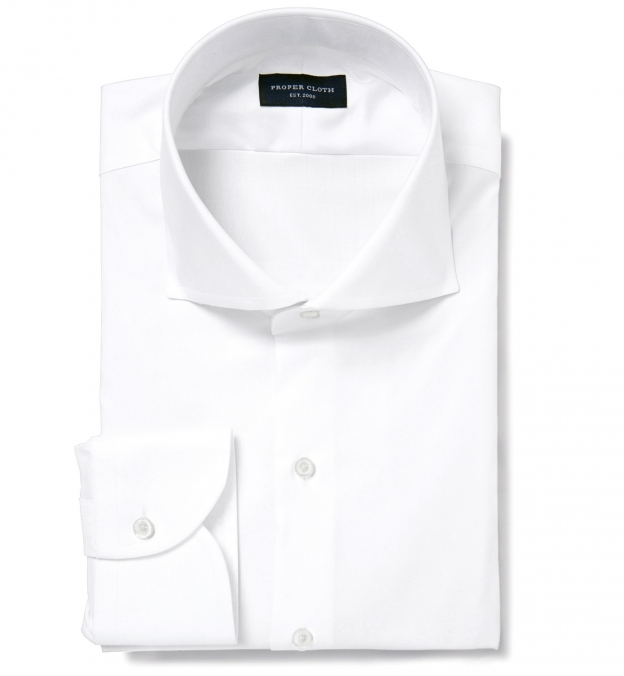 Thomas Mason Non-Iron White 100s Twill