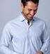 Thomas Mason Goldline Light Blue Multi Grid Shirt Thumbnail 3