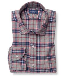 Sierra Red Navy and Grey Plaid Flannel