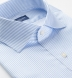 Non-Iron Light Blue Shadow Stripe Twill Shirt Thumbnail 2