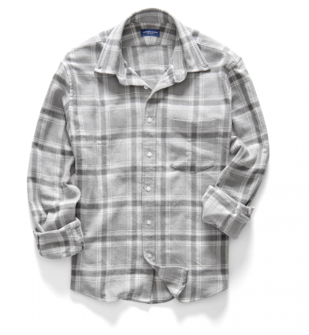 Japanese Washed Grey Country Plaid