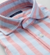 Amalfi Red and Light Blue Pique Stripe Shirt Thumbnail 2