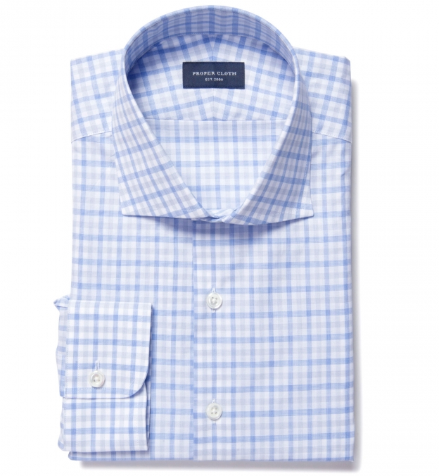 Thomas Mason Blue and Grey Multi Check