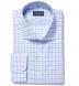 Thomas Mason Blue and Grey Multi Check Shirt Thumbnail 1