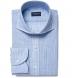 Canclini Blue Slub Stripe Shirt Thumbnail 1