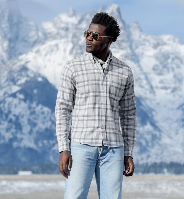 Teton Grey Tonal Plaid Flannel