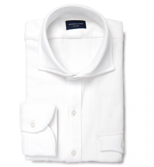 Japanese White Casual Heavy Twill