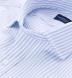 Thomas Mason Light Blue Stripe Oxford Shirt Thumbnail 2