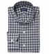 Albiate Light Grey Melange Plaid Shirt Thumbnail 1