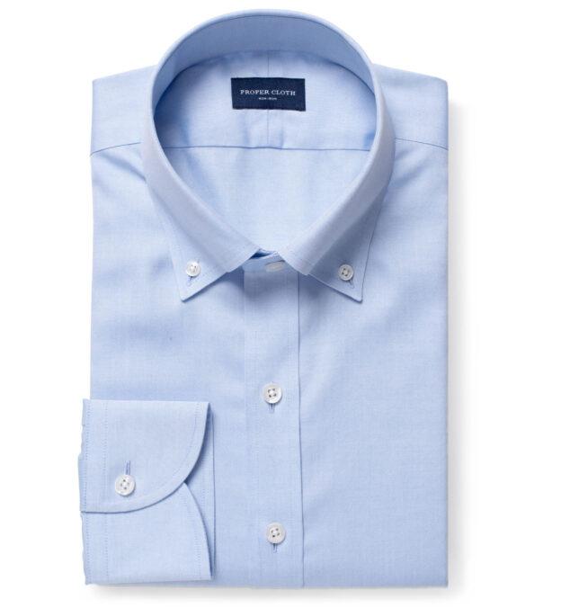 Non-Iron Supima Blue Pinpoint Custom Dress Shirt