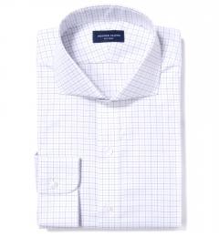 Greenwich Blue Tattersall Dress Shirt