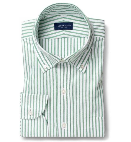 Green Striped Summer Oxford