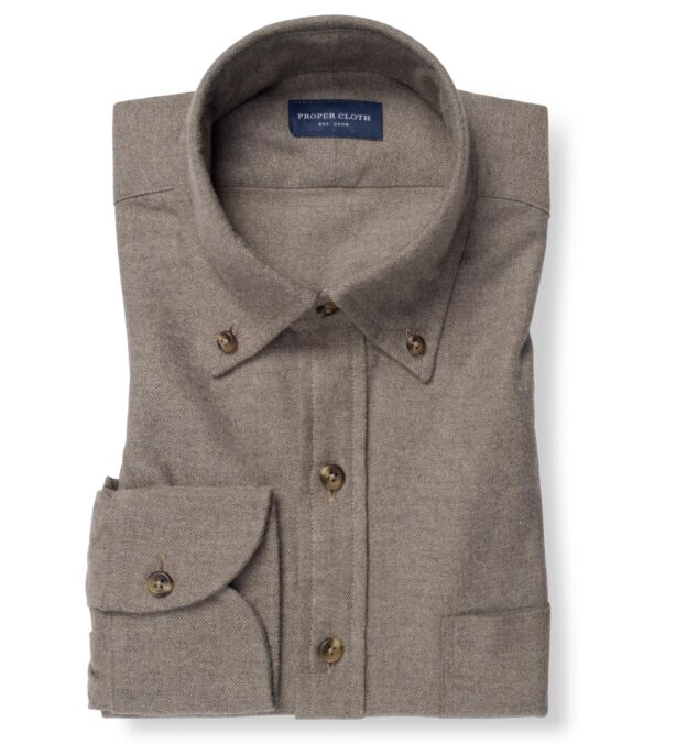 Canclini Taupe Oxford Beacon Flannel