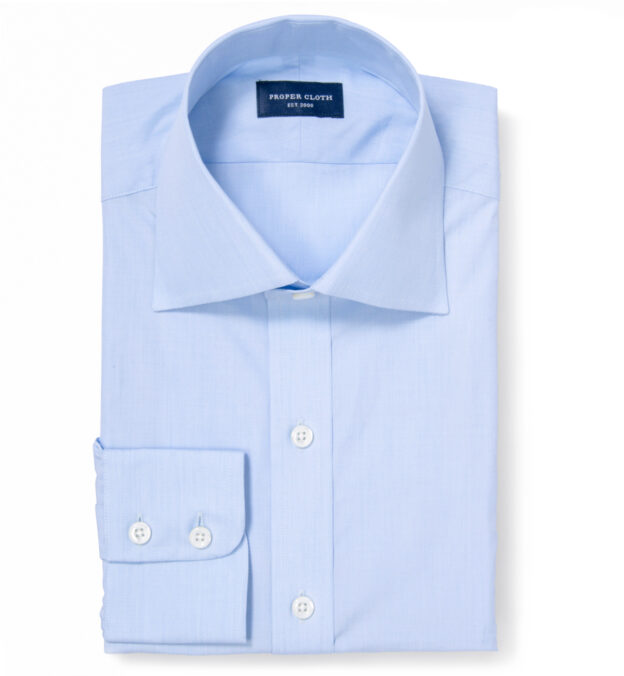 Thomas Mason Goldline Light Blue End-on-End Men's Dress Shirt