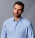 Thomas Mason Non-Iron Blue Gingham Shirt Thumbnail 4