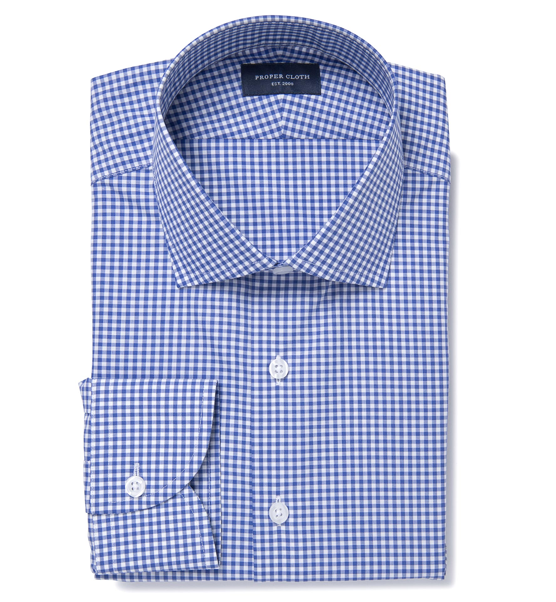 30c8cf68eee Royal Blue And White Dress Shirt - Nils Stucki Kieferorthopäde