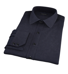 Wythe Black Oxford Fitted Shirt