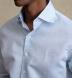 Portuguese Light Blue Cotton Linen Oxford Shirt Thumbnail 4