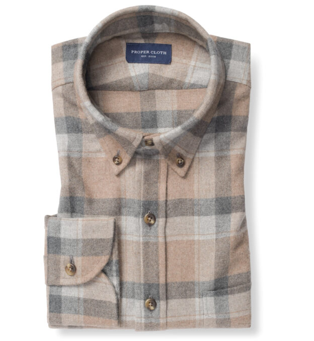 Canclini Camel Plaid Beacon Flannel