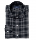 Grey Melange Plaid Flannel Shirt Thumbnail 1