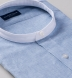 Blue Melange Cotton Linen Blend Shirt Thumbnail 2
