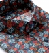 Albini Blue and Red Large Floral Shirt Thumbnail 2